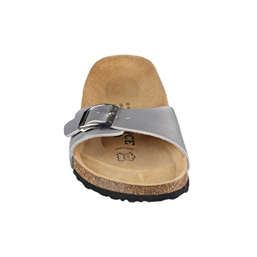 Paris Footbed Soft Slippers Narrow SynSoft JOYCE Women Metallic Black N Sandals JOE qxUtBXZt