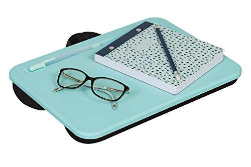 LapGear Essential Lap Desk - Aqua Sky (Fits up to 13'' Laptop) by Lap Desk