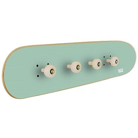 Perchero para habitación Juvenil con Tabla de Skate, Verde ...
