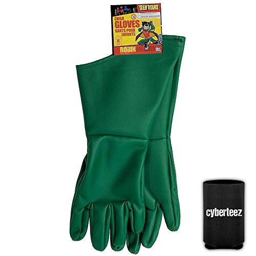 Robin Child Size Boys Kids Batman Costume Gloves + (Robin Child Gloves)