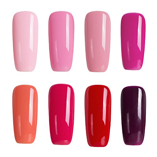 Modelones 8pcs Soak Off Gel Nail Polish Set,Perfect Gift For Ladies