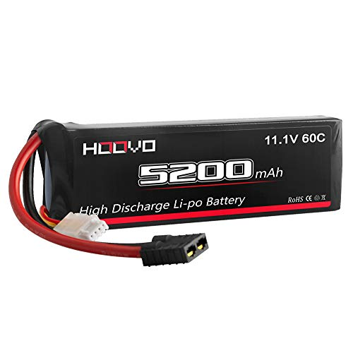 HOOVO 3S 11.1V 5200mAh 60C LiPo Battery Pack with Traxxas Plug for RC Helicopter RC Airplane RC Hobby UAV Drone FPV ()