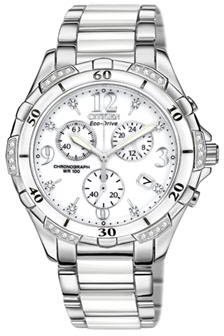Citizen Women's Eco-Drive Chronograph Watch with Diamond Accents, FB1230-50A ()