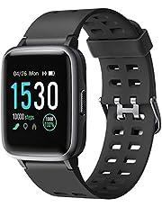 Letsfit Smartwatch, Fitness Armbanduhr Touchscreen Fitness Uhr IP68 Wasserdicht Fitness Tracker mit Pulsmesser Schlafmonitor, Sportuhr Fitnessuhr für Frauen Männer Kinder Smart Watch für Android iOS