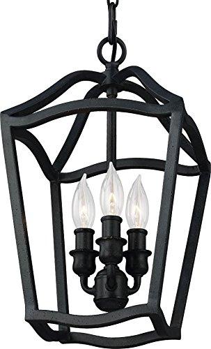 (Feiss F2974/3AF Yarmouth Pendant Lighting Lantern, Iron, 3-Light (9