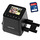 Magnasonic All-in-One Slide & Film Scanner, High Resolution 23MP, Converts 35mm/110/126 Negatives & 135 Slides into Digital Photos, with Bonus 32GB SD Card (FS51)