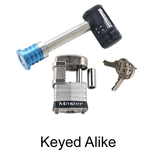Master Lock - 2 Trailer Locks Keyed Alike #2KA-1480-37 ()