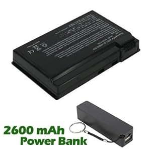 Battpit Bateria de repuesto para portátiles Acer TravelMate C303XMi (4400mah / 65wh) con 2600mAh Banco de energía / batería externa (negro) para Smartphone