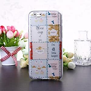 Cake and Cup Pattern Transparent TPU Soft Case for iPhone 6 Plus