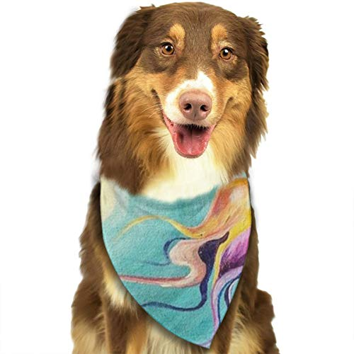 FRTSFLEE Dog Bandana Mermaid Cove Painting Tutorial Scarves Accessories Decoration for Pet Cats and Puppies