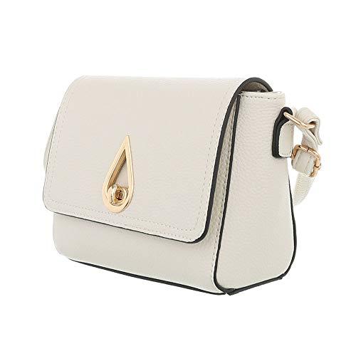 Ital Beige Design hombro Sintético de para Bolso al Size One mujer beige UUrn8q