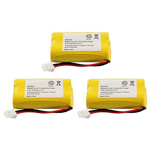 WalR Rechargeable Cordless Phone Battery Ni-CD, 3 Pack, for Sony BP-T50 BPT50 BP-T51 BPT51 BP-TR10 BPTR10 HSCOT50 NTM-910 SPP-N1000 SPP-N1001 SPP-N1003 SPP-N1004 NTM910 SPPN1000 SPPN1001