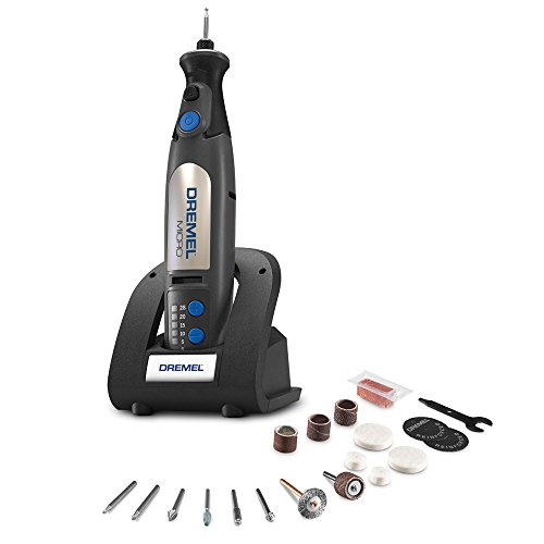 - Dremel 8050-N/18 Micro Cordless Rotary Tool Kit with Docking Station- Engraver, Polisher, and Detail Sander- Ideal for Glass Engraving, Wood Carving, Sanding, Polishing, and Cutting- 18 Accessories