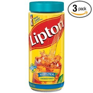 Lipton Black Iced Tea Mix Unsweetened 30 qt (Pack of 12)