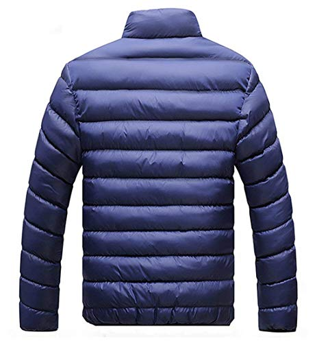 Outerwear Sleeve Stand Full Coat Men's fashion Overcoat Outerwear Long Laisla Down Casual Zip Collar Black Warm Jacket Clásico Boy tP8xv