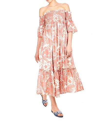 (Pepe Jeans Women's Pl9524910aa Orange Viscose Dress)