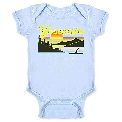 Blue Canoe Onesie - Pop Threads Yosemite Retro Travel Light Blue 6M Infant Bodysuit