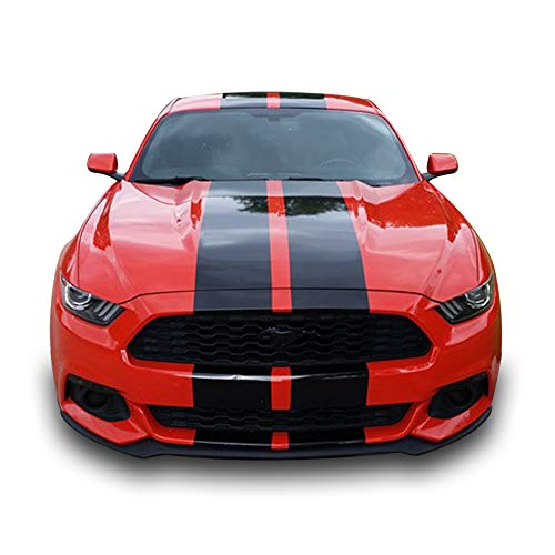 Bubbles Designs Full Stripe Kit Sticker Decal Graphic Compatible with Ford Mustang GT 2015 2016 6th ()