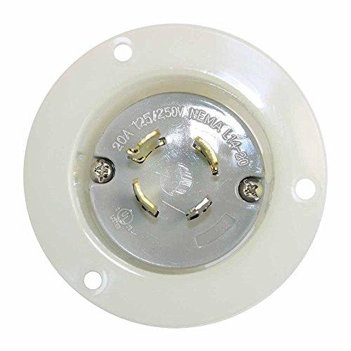 Superior Electric YGF170 Twist Lock Flange Plug 3-Pole 4-Wire 20A 125/250V NEMA (20p Flanged)