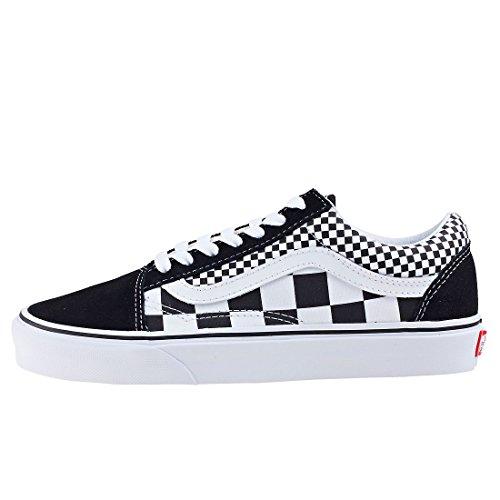 Vans Unisex Old Skool Skate Shoes Checkers/Black/True White 7.5 B(M) US Women/6 D(M) US Men by Vans (Image #2)