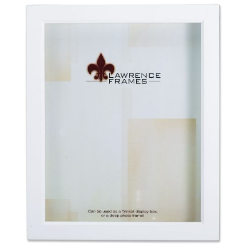 Lawrence Frames 795257 White Wood Treasure Box Shadow Box Picture Frame, 5 by - 7x7 Frame Box Shadow
