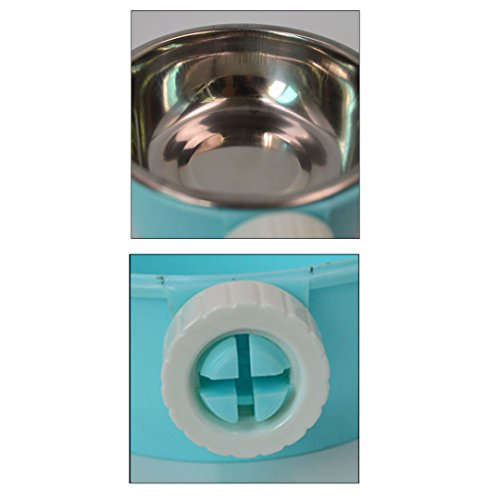 Budd Stainless Steel Pets Water Food Bowl Removable Hanging Cage Cup Small Animals Cat Puppy Birds Food Bowl with Bolt Holder Accessories on sale