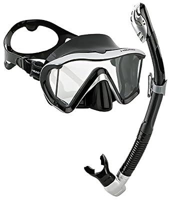 Head Scuba Snorkeling Panoramic Mask Dry Snorkel Set