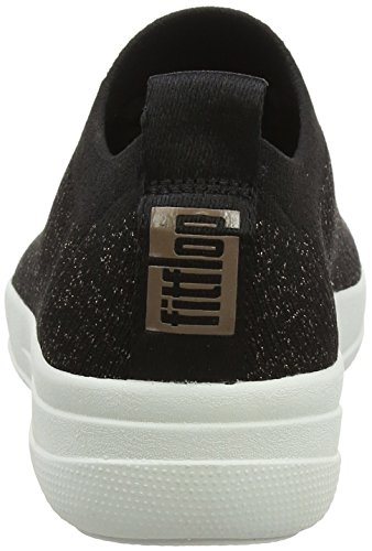 Damen 5 501 F Sneaker FitFlop Metallic Uberknit Metallic Multicolour Black 36 Sporty Sneakers EU Anthrazit Bronze daHzZB