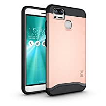 TUDIA ZenFone 3 Zoom Case, Slim-Fit HEAVY DUTY [MERGE] EXTREME Protection / Rugged but Slim Dual Layer Case for Asus ZenFone 3 Zoom (ZE553KL) (Rose Gold)