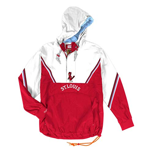 Mitchell & Ness St. Louis Cardinals MLB Men's Anorak Half Zip Pullover Jacket