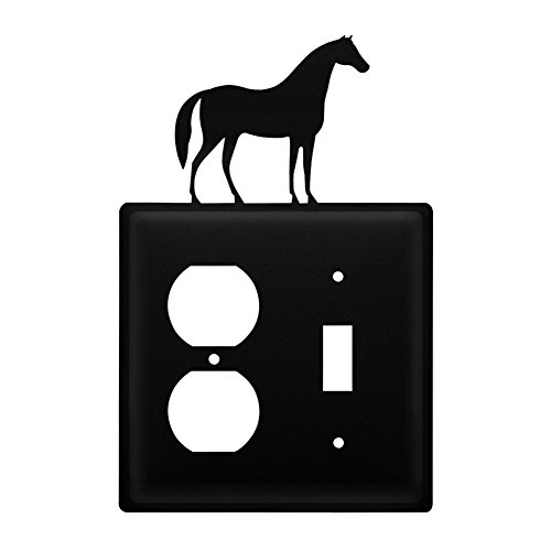Iron Horse Outlet & Switch Cover - Black Metal