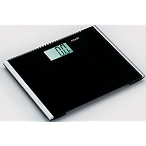 Coosh CBS001B Precision Digital Bathroom Scale with Enlarged LCD and Comfort Plus Platform, 440lb Capacity