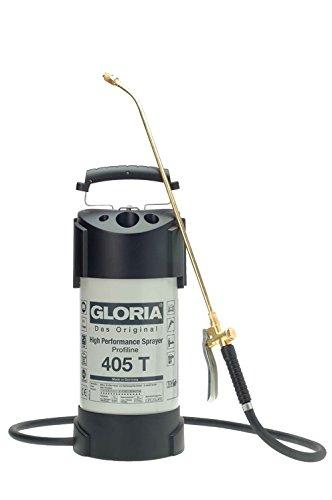 Gloria Drucksprüher Hochleistungssprühgerät Stahl 5L Ölfest 405TProfi, grau