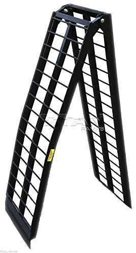 (9' Black Aluminum Single Folding Arched Motorcycle loading ramp)