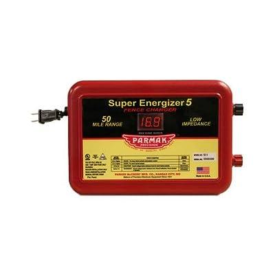 Parker Mc Crory Mfg SE-5 Super Energizer 5 Electric Fence Charger, 50-Mile, Low Impedance, Plug-In, 110-120-Volt