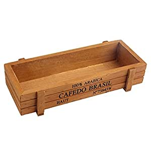 amazingdeal365Jardinera Macetero de madera ratán sin Riego
