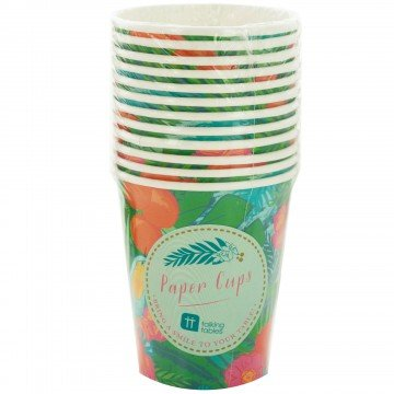 Papper Party Cups (Assorted Colors - Amethyst, Neptune Blue, Paprika, and Apple Green - 16 Ounce, 12 Units)