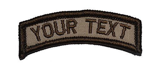 Customizable Text Tab Patch w/ Hook Fastener Morale Patch – Desert Tan