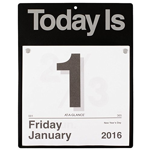 "AT-A-GLANCE Daily Wall Calendar 2016, ""Today Is"", 12 Months, 8.5 x 8 Inch Page Size (K400)"