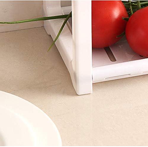 Vikenner scaffale da Cucina a Doppio ripiano per condimenti da Bagno Dimensioni 38 x 40 x 15 cm Senza forature mensola Organizer per lavello Mensola impilabile in plastica Multifunzione