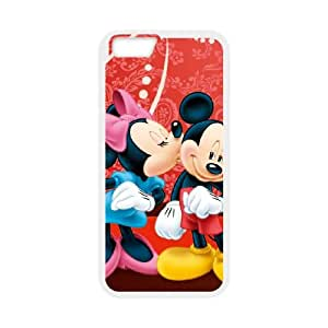 Mickey and Minnie iPhone 6 Plus 5.5 Inch Cell Phone Case White xlb-143262