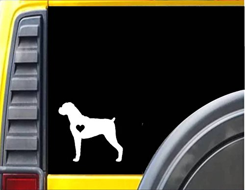 Boxer Little HeartJ595 6 inch dog Sticker ()