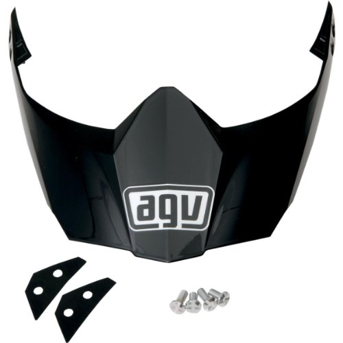 (AGV Peak AX8DS/EVO Visor Motorcycle Helmet Accessories - Black One Size)