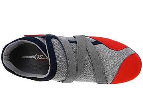 Mnx15 Donna Ascensore Scarpe Altezza Aumento 2.3 Base Grigio Grigio