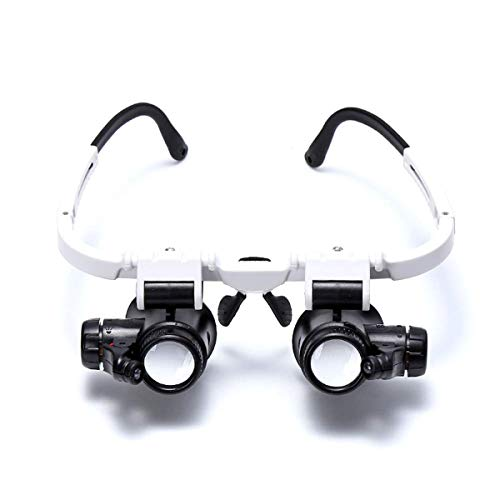 Mintata 8x15x23x Magnification Head Wearing Magnifier Glass with LED Light for Jewellery Watch Clock Repair