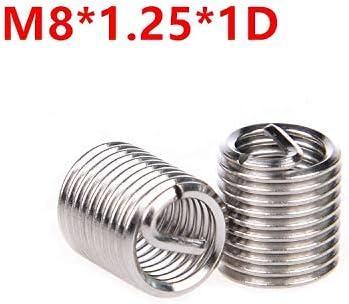 100pcs New M8*1.25 3D insert length helicoil Stainless Steel Screw Thread insert
