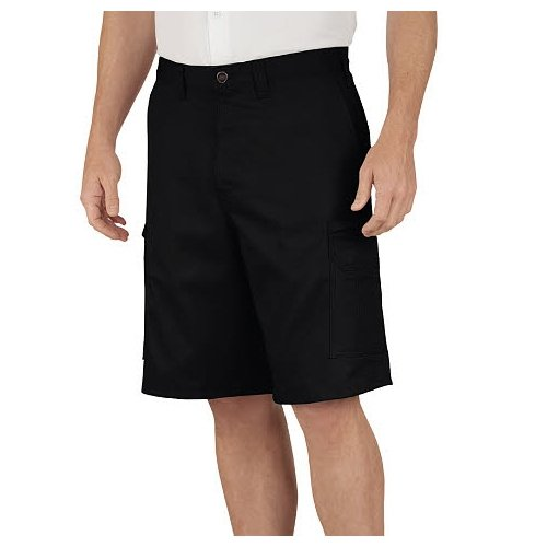 Dickies Occupational Workwear LR337DS 48 Cotton Relaxed Fit Men's Industrial Cargo Short with Metal Tack Closure, 48