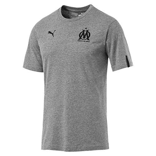 Heather Fan De Olympique Medium Shirt Marseille Tee Slogan Puma Gray T Homme xRgnwqtP