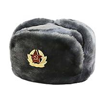 Hat Russian Soviet Army Air force Fur Military Ushanka * GR * Size L