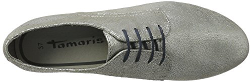 Oxfords 37 EU 23630 Silver Antic Argent Tamaris Femme 945 Silber ISwZw56x